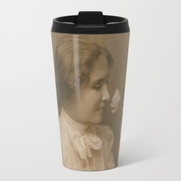 Helen Keller Vintage Photo, 1904 Travel Mug