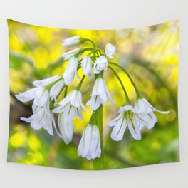 White woodland flora. Wall Tapestry