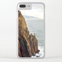 Lower Neahkahnie Mountain Ocean Spires, Oregon Coast Landscape Clear iPhone Case