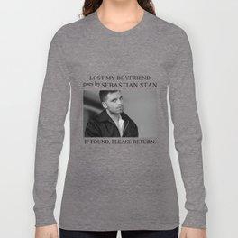 Lost my boyfriend Sebastian Stan Long Sleeve T-shirt