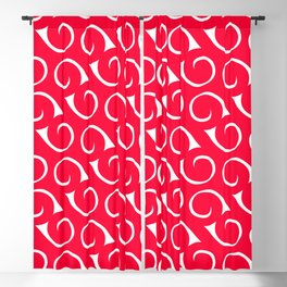 Pink and White Swirls Blackout Curtain