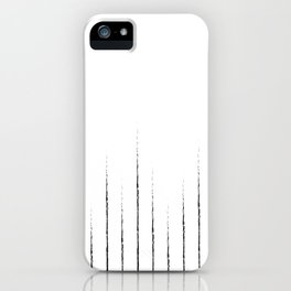 Lines in white iPhone Case