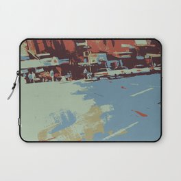 Cityscape abstract wall art print Laptop Sleeve