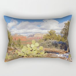 Looking Out Westward in Sedona Photograph by Reay of Light Rectangular Pillow
