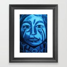green eyed Indian Framed Art Print