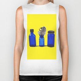 Cobalt Blue Glass Bottle Illustration Biker Tank