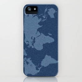 Denim Map iPhone Case