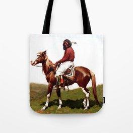 "Western Art ""Comanche Brave"" by Frederic Remington Tote Bag"