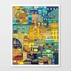 Shopping District Canvas Print