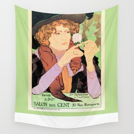 Art Nouveau Expo Salon des Cent Paris Wall Tapestry