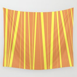 Orange And Yellow Stripes - Abstract Sunshine Wall Tapestry
