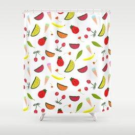 Vegan Goodies Pattern Shower Curtain
