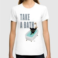 bath T-shirts featuring Bath Time by BATKEI