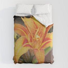 Tiger DayLilies (Digital Art)  Comforters
