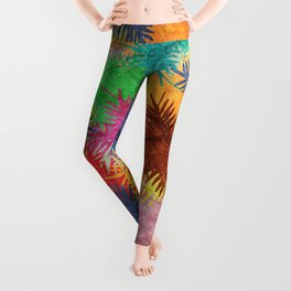 Tropical Fan Palm Paradise – Colorful #05 Leggings