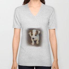 Little puppy dog Unisex V-Neck