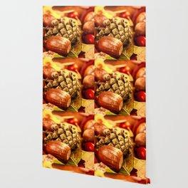 Arbores autumnales effectu Wallpaper