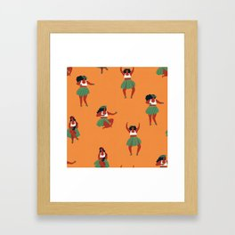 Hula dancers Framed Art Print