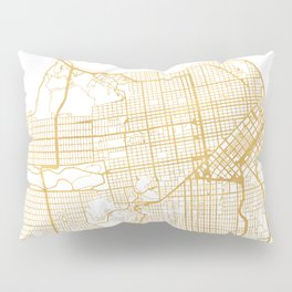 SAN FRANCISCO CALIFORNIA CITY STREET MAP ART Pillow Sham