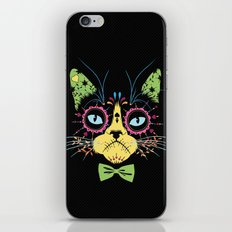Sugar skull cat iPhone & iPod Skin