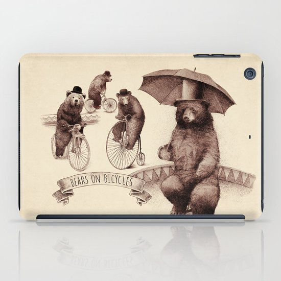 Bears on Bicycles iPad Case