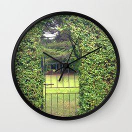Garden Gate in Ireland Wall Clock