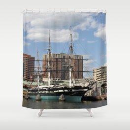 USS Constellation Shower Curtain