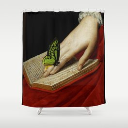 Gentle Reader Cropped Art Shower Curtain