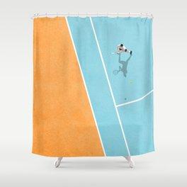 Tennis Court Colors  Shower Curtain