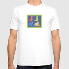 Warhol Dogs Mens Fitted Tee White MEDIUM