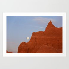 Full Moon Setting Art Print
