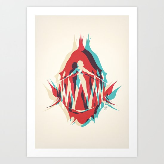 Piranha Girl Art Print