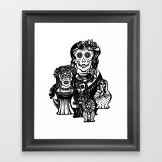 Dead russian dolls Framed Art Print