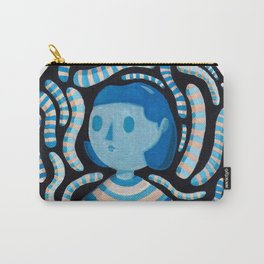 Blue Gouache Character Carry-All Pouch