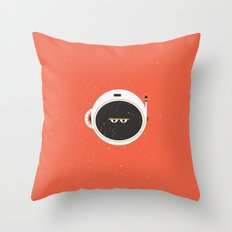 The Spaceman on Mars Throw Pillow