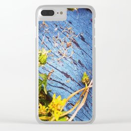 Dandelion Blue Clear iPhone Case
