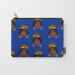 llustrated Hip Hop Blue Theme Carry-All Pouch