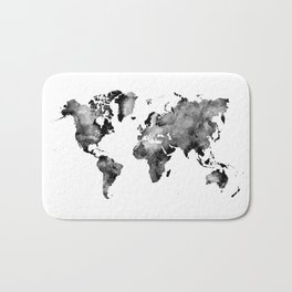 map black and white #map #world Bath Mat
