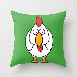 Ooh Zoo – farm-series, Chicken Throw Pillow
