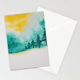 Magic of snow Stationery Cards