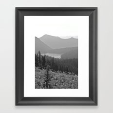Fade Out Framed Art Print