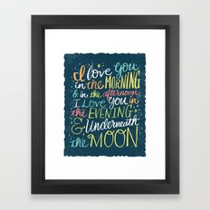 I LOVE YOU IN THE MORNING (color) Framed Art Print