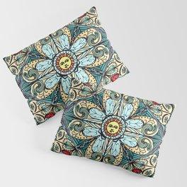 Vintage Style Sun Mandala Pillow Sham