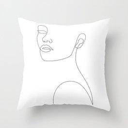 Girly Portrait Throw Pillow