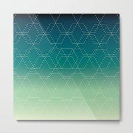 Hex Blue Metal Print