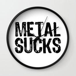 Metal Sucks Wall Clock