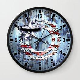 blue steel USA Wall Clock