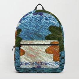 floral pattern gattaca Backpack