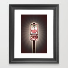 Zombie Parking only Framed Art Print
