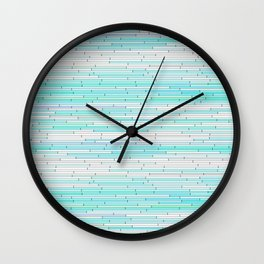 Sky Blue Random Line Sections Wall Clock